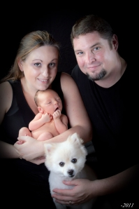1st Family Pic ~ Aug 2011 ~ Liam was just a few wks old!