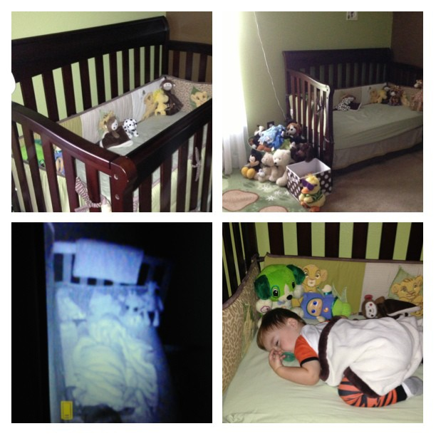 6.9.13 ~ Liam moved out of his crib and into a toddler bed!