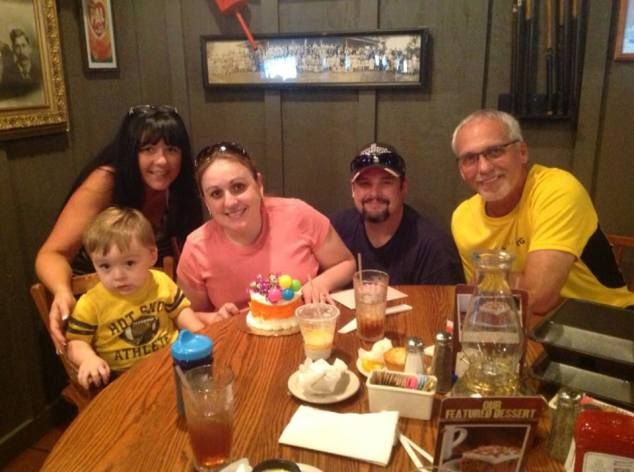 Happy Birthday to me! :) ...dinner with my mom & her hubby at Cracker Barrell...Mr Liam was kinda over the pics at this point...haha!