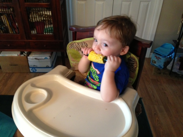 6.16.13 ~ 1st corn on the cob!! yummy!!