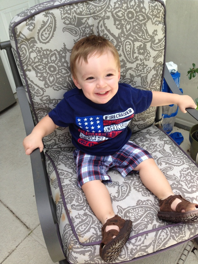 7.04.2013 ~ 2nd 4th of July ~ Patriotic Boy, All Smiles!