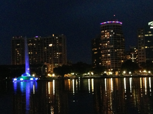 Lake Eola ~ Fireworks at the Fountain 2013