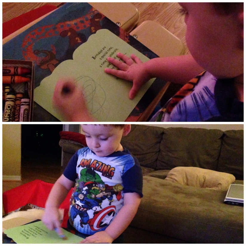 2014-07-12_Coloring Great Grampy Bday Card