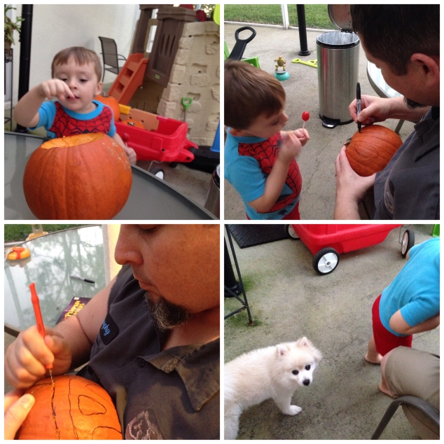 2014-10-26_pumpkin carving collage